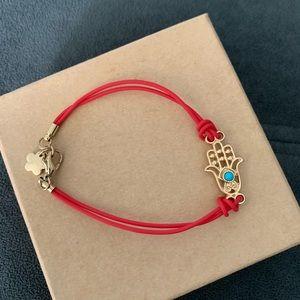 NWOT red & gold hamsa bracelet